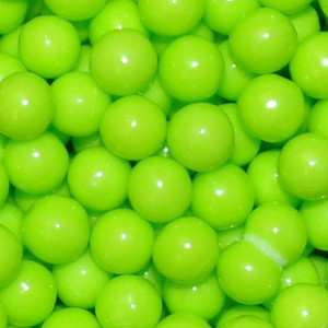 85 GM 7 MM GREEN PEARL CANDIES