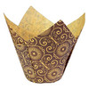 BAKING CUP TULIP MARIPOSA BROWN NATURAL STANDARD STD