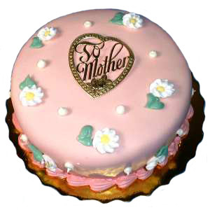 "900 GM 7"" VANILLA MOTHERS DAY CAKE"