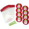 8 SETS ROUND SNOWMAN PLATE KIT BY WILTON