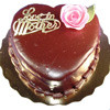 "6"" CHOCOLATE MOTHERS DAY HEART CAKE"