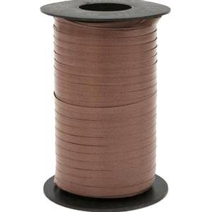 500 YD CURLING RIBBON IN CHOCOLATE BROWN