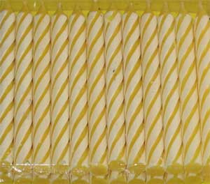 YELLOW STRIPED CANDLES