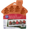WILTON BITE SIZED SILICONE GINGERBREAD FAMILY TREAT MOLD