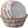 PACK OF 75 STANDARD SNOWFLAKE BAKING CUPS