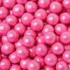 2 LB. 7 MM BRIGHT PINK SHIMMER PEARL CANDIES