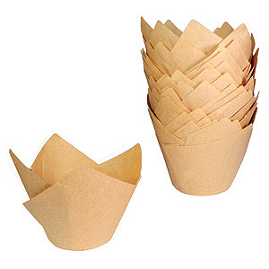 BAKING CUP TULIP NATURAL STANDARD STD
