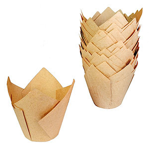 BAKING CUP TULIP TALL NATURAL STANDARD STD