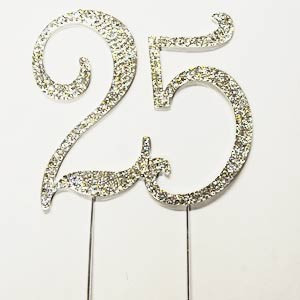 NUMBER TWENTY-FIVE SILVER BLING PICK
