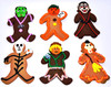 "SINGLE 6"" HALLOWEEN ASSORTED COOKIE PALS"