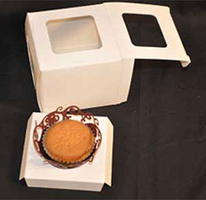 SINGLE CUPCAKE INSERTS FOR 1 PC CUPCAKE BOXES