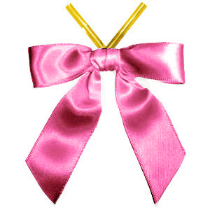BOW 3 INCH PINK WITH TWIST TIE