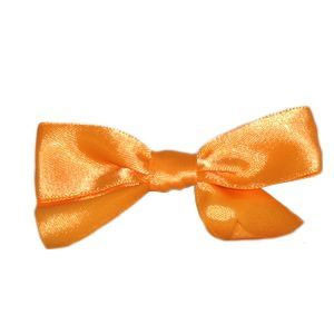 "100 PKG 3"" BOWS WITH TWIST TIE IN TORRID ORANGE"