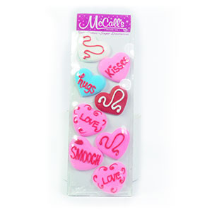 ROYAL ICING HEARTS - 8 PIECES