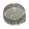 "100 PKG 8"" ROUND LOW DOME WITH BASE"