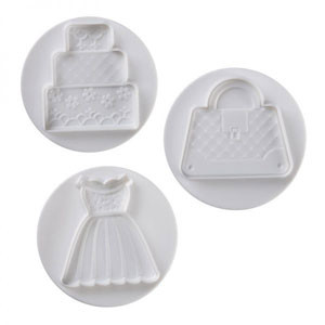 3 PC WEDDING PLUNGER SET