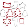 PACK OF 10 HOLIDAY SHAPES CUTTER SET