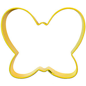 BUTTERFLY COOKIE CUTTER COLORED COLOURED YELLOW WILTON