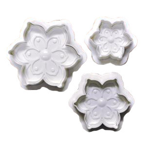 6-PETAL FLOWER PLUNGER SET OF 3