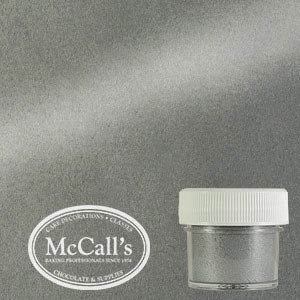 SATIN SILVER METALLIC LUSTER DUST - 3G (EDIBLE)