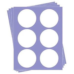 "EDIBLE PAPER 3"" ROUND - 24 SHEETS - 6 IMAGES PER SHEET"