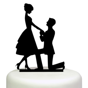 MARRY ME SILHOUETTE BRIDE GROOM WEDDING ENGAGEMENT
