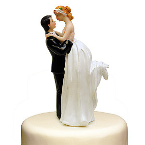 ROMANTIC MOMENT CAKE TOPPER BRIDE GROOM WEDDING