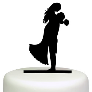 HOLD ME SILHOUETTE CAKE TOPPER BRIDE GROOM WEDDING