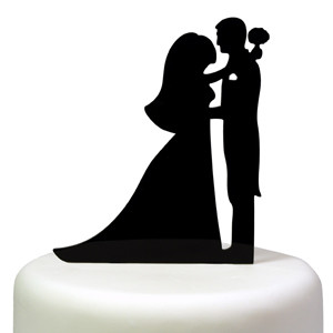 FIRST DANCE SILHOUETTE CAKE TOPPER BRIDE GROOM WEDDING