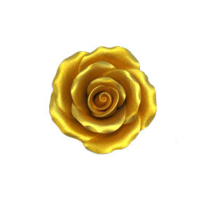 "6 PKG. 2 1/4"" GOLD GUM PASTE ROSE"
