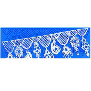 PRINCESS JEWELS ICING LACE MAT