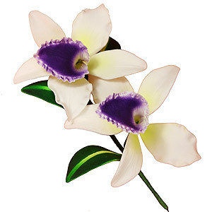 GUMPASTE CATTLEYA ORCHID PURPLE FLOWER
