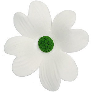 GUMPASTE DOGWOOD FLOWER GREEN