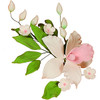 GUMPASTE ORCHID SPRAY PINK BUD FLOWER LEAVES