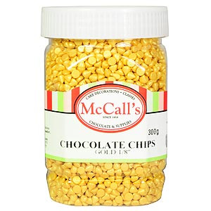 GOLD MINI CHOCOLATE CHIPS EDIBLE