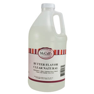 BUTTER FLAVOR CLEAR - NATURAL 2 LITERS (1/2 GALLON)