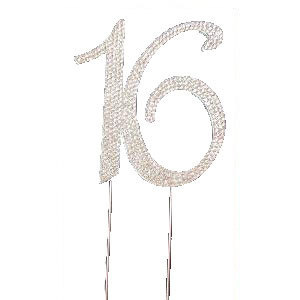 BLING PICK - NUMBER 16 IN SILVER