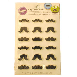 WILTON MUSTACHE ICING DECORATIONS