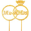"5 3/4"" GOLD MR AND MRS BLING PICK"