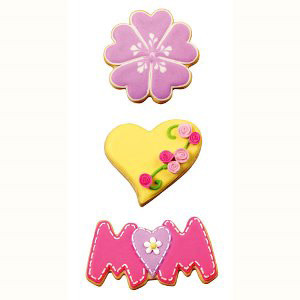 3 PC MOM TIME COOKIE CUTTER SET