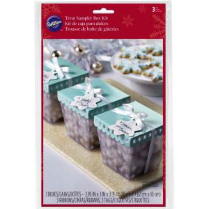 3 PKG FROSTED SNOWFLAKE SAMPLER BOXES BY WILTON