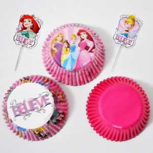 24 PKG DISNEY PRINCESS CUPCAKE COMBO SET