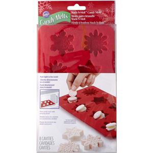 8 CAVITY SNOWFLAKE CANDY MOLD