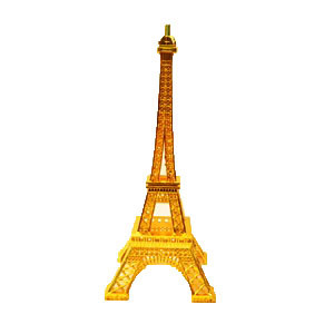 "10"" GOLD EIFFEL TOWER ORNAMENT"