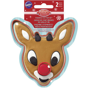 2 PIECE RUDOLPH CUTTER SET