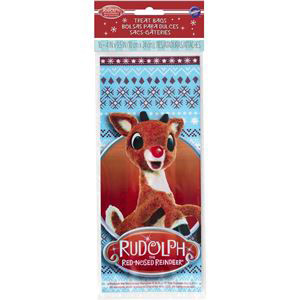 16 PC SET RUDOLPH PARTY BAGS BY WILTON