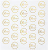 "50 PKG 1"" ROUND GOLD LOVE STICKERS"