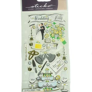 33 PC OUR WEDDING DAY STICKERS
