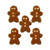 24 PKG ICING GINGERBREAD BOY DECORATIONS BY WILTON