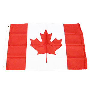 "CANADIAN FLAG 24"" X 36"" 100% POLYESTER"